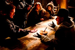 quentin-tarantino-directs-kurt-russell-jennifer-jason-leigh-and-tim-roth-on-the-set-of-the-hateful-eight