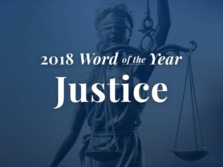 Why Merriam-Webster Chose 'Justice' for 2018 Word of the Year