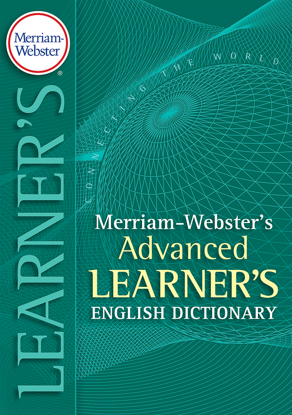 merriam-webster's advanced learner's english dictionary, trade paperback book cover