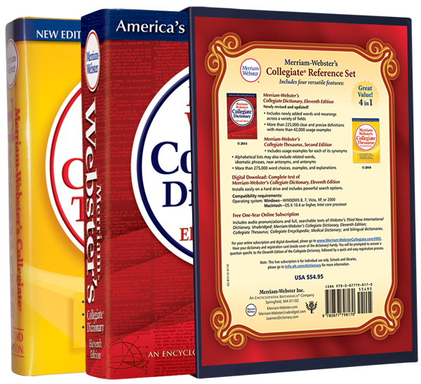 merriam-webster's collegiate reference set book cover