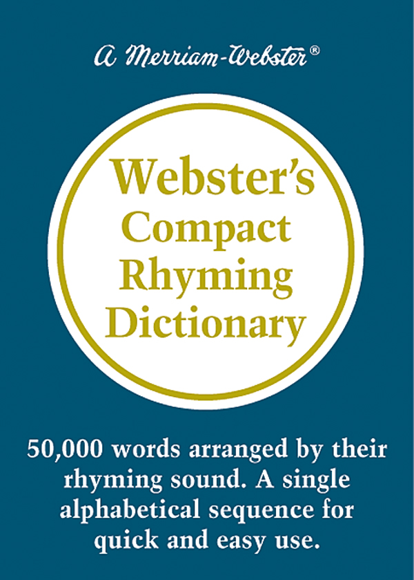 webster's compact rhyming dictionary book cover