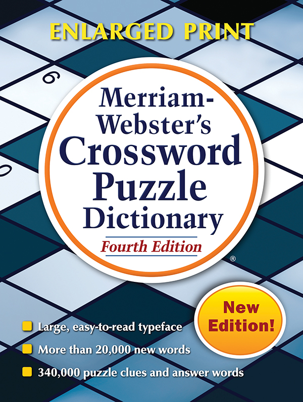 Buy Merriam Webster S Crossword Puzzle Dictionary Trade Paperback