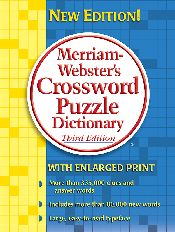 merriam-webster's crossword puzzle dictionary, third edition, trade paperback book cover