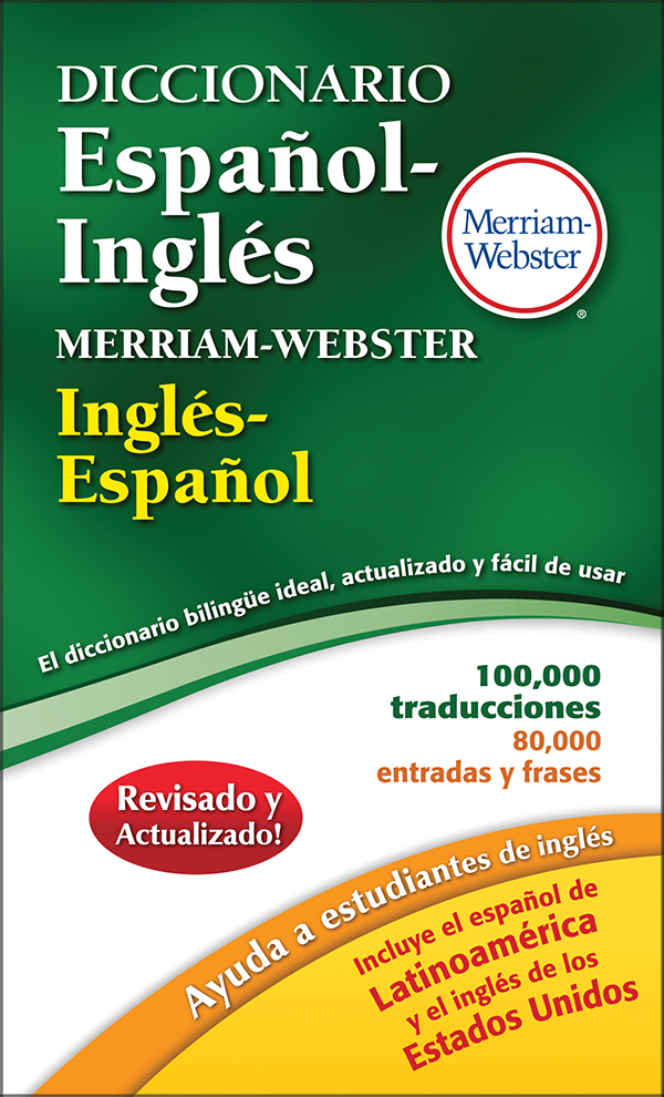 diccionario español-inglés merriam-webster book cover