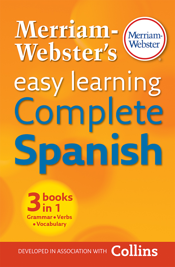 merriam-webster's easy learning complete spanish book cover