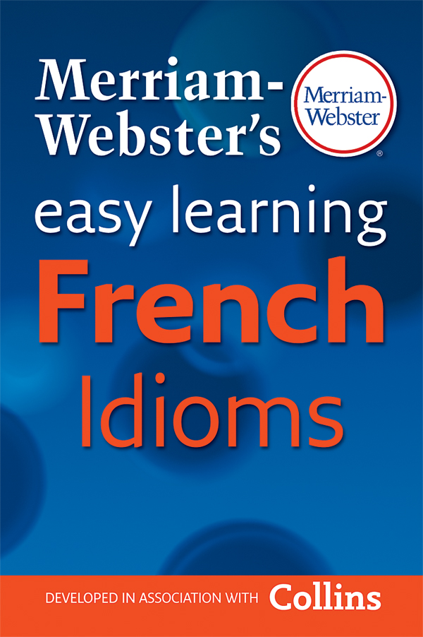 merriam-webster's easy learning french idioms book cover