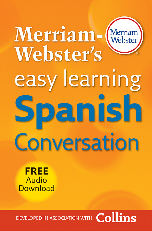 merriam-webster's easy learning spanish conversation book cover