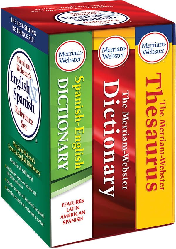 merriam-webster's english and spanish reference set book cover