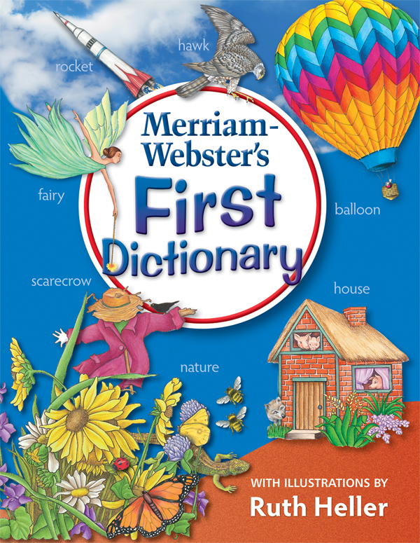merriam-webster's first dictionary book cover