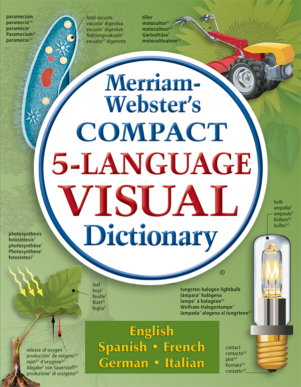 merriam-webster's compact 5-language visual dictionary book cover