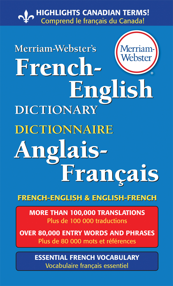 merriam-webster's french-english dictionary, mass-market paperback book cover