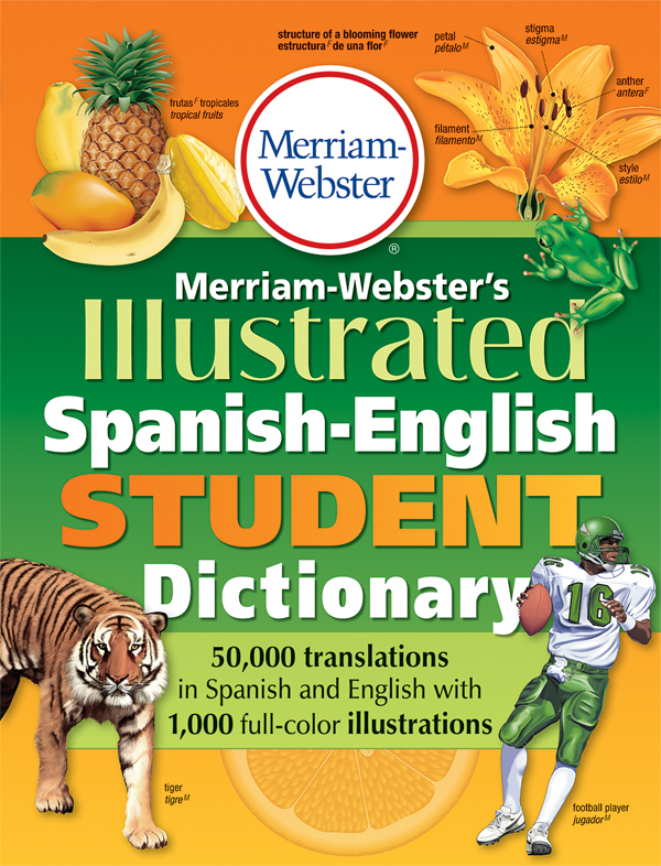 merriam-webster's illustrated spanish-english student dictionary book cover