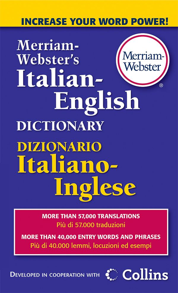 English In Italian: Buy Merriam-Webster's Italian-English Dictionary