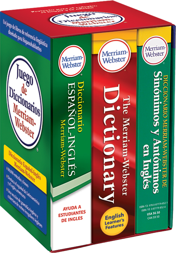 juego de diccionarios merriam-webster book cover