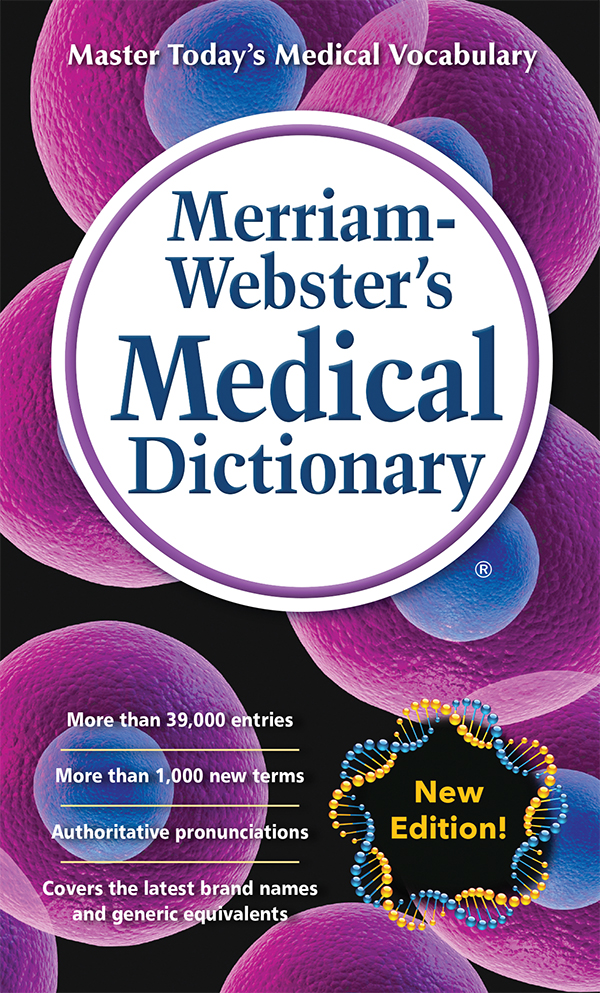 merriam-webster's medical dictionary, mass-market paperback book cover