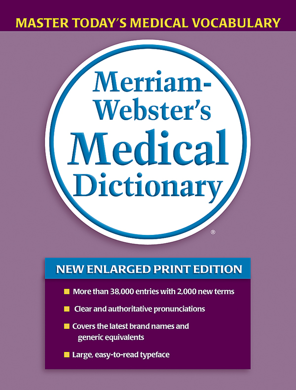 merriam-webster's medical dictionary, trade paperback book cover