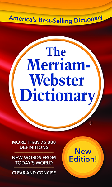 the merriam-webster dictionary, mass-market paperback book cover