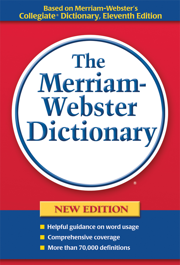 the merriam-webster dictionary, trade paperback book cover
