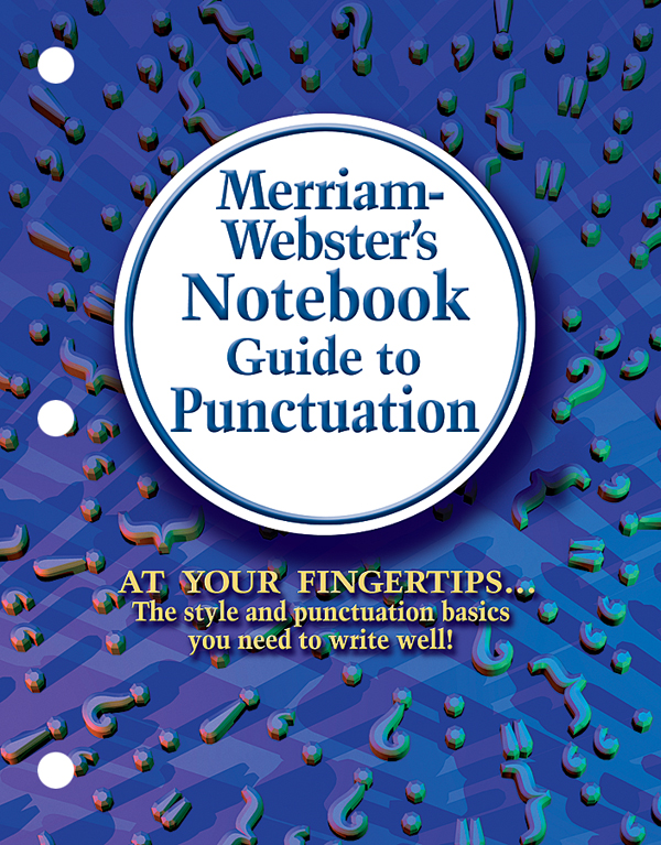 merriam-webster's notebook guide to punctuation book cover