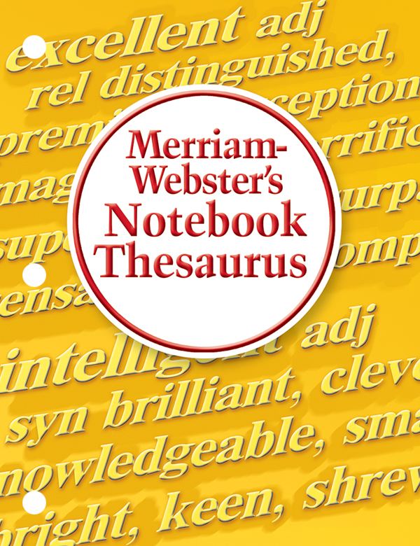 merriam-webster's notebook thesaurus book cover