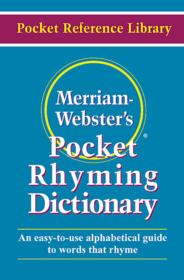 merriam-webster's pocket rhyming dicitonary book cover
