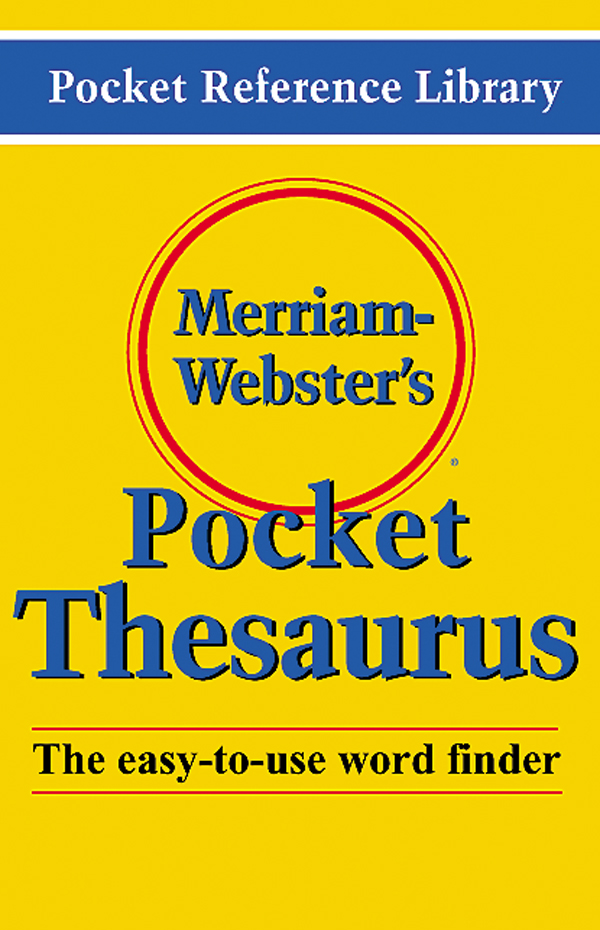 merriam-webster's pocket thesaurus book cover