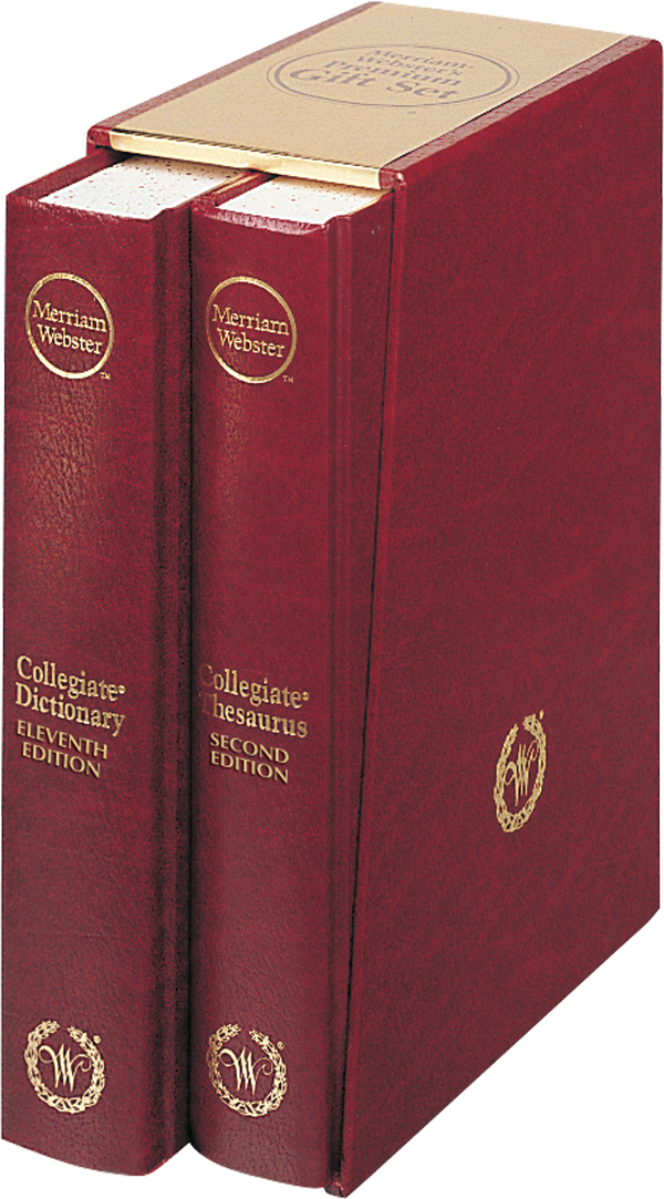 merriam-webster's premium gift set book cover