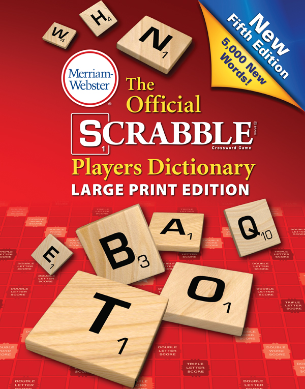 the official scrabble players dictionary, large print edition book cover