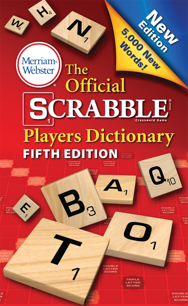the official scrabble players dictionary, fifth edition, mass-market paperback book cover