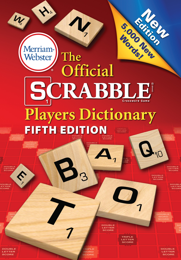 the official scrabble players dicitonary, fifth edition book cover