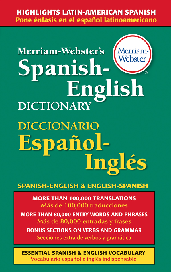 merriam-webster's spanish-english dictionary, hardcover book cover