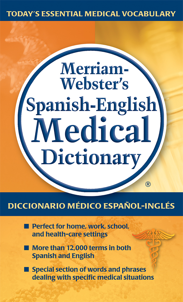 merriam-webster's spanish-english medical dictionary book cover