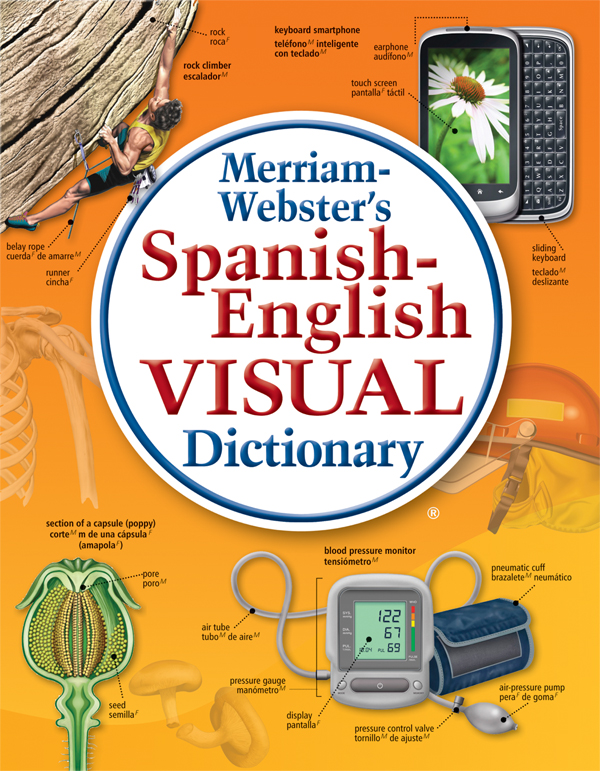 merriam-webster's spanish-english visual dictionary book cover