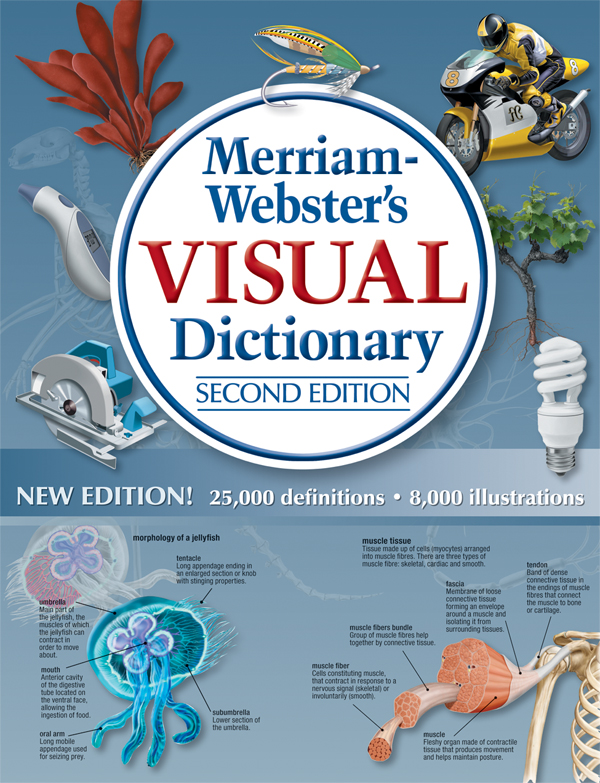 merriam-webster's visual dictionary, second edition book cover