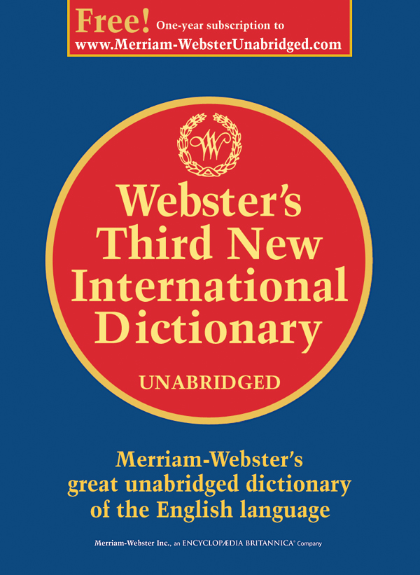 webster's third new international dictionary, unabridged book cover