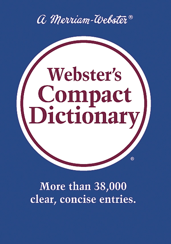 webster's compact dictionary book cover