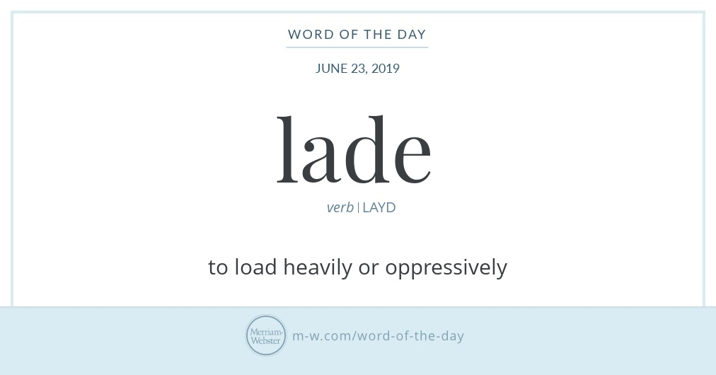Word of the Day: Lade