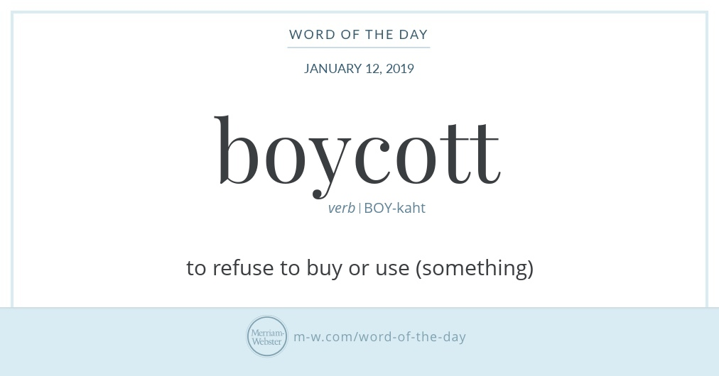 Word of the Day: Boycott
