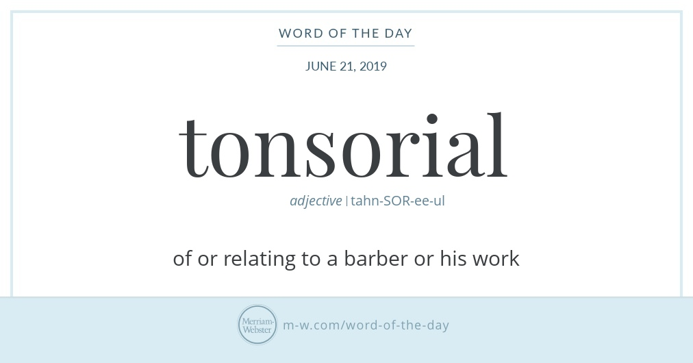 Word of the Day: Tonsorial