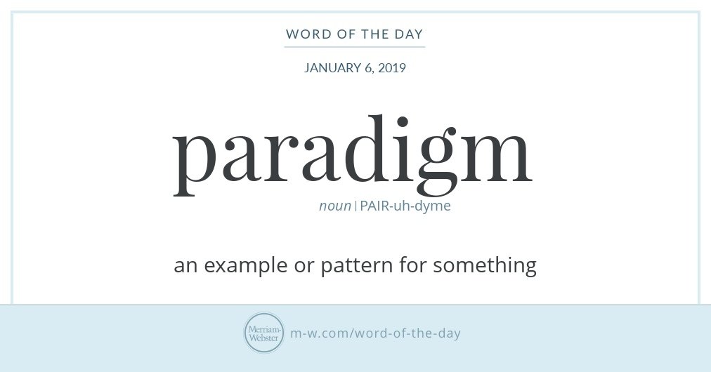 Word Of The Day Paradigm Merriam Webster