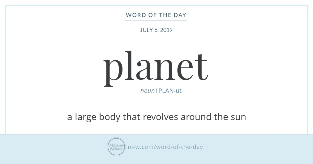 Word of the Day: Planet