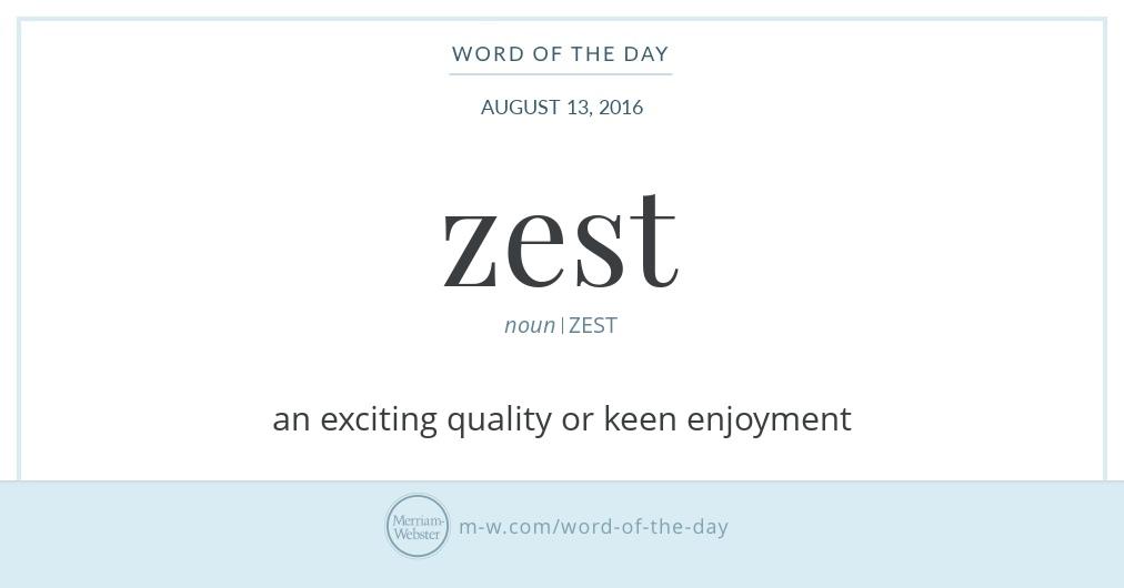 Zest definition