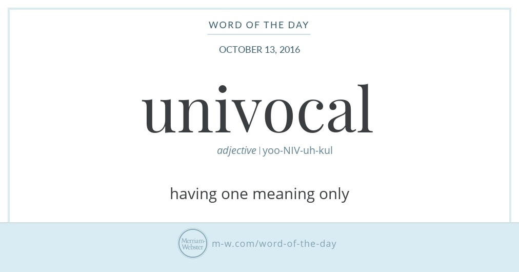 lesson 2 univocal equivocal and analogous Learn how to say words in english correctly with emma saying free pronunciation tutorials over 140,000 words were already uploaded check them out visit.