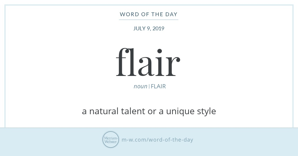 Word of the Day: Flair