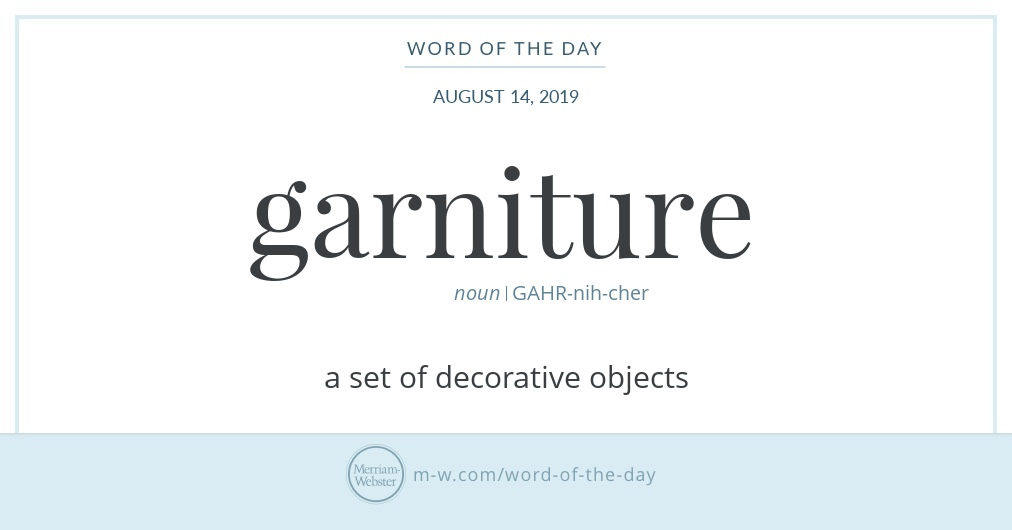 Word of the Day: Garniture